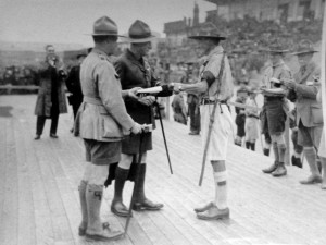 Presentation of the Medal of Merit to Capt. MIchaelson, Blackpool Rally 1930