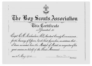 Medal of Merit citation
